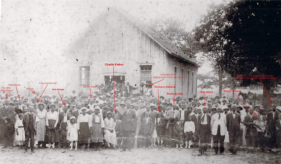 Bluesmen's Schooldays - Thanks to Phil Wight. Can you spot anymore future blues giants in this picture.